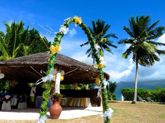 L'Habitation Hotel : Small restaurant kiok wedding