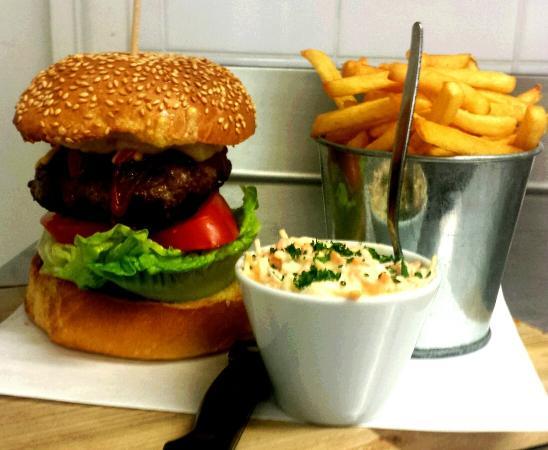 Dish Deli & Kitchen: The Dish Burger & Fries