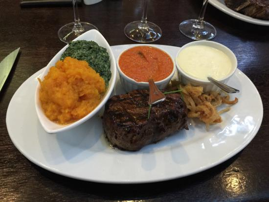 Tribes African Grill & Steakhouse: This 300 gram filet is superb.