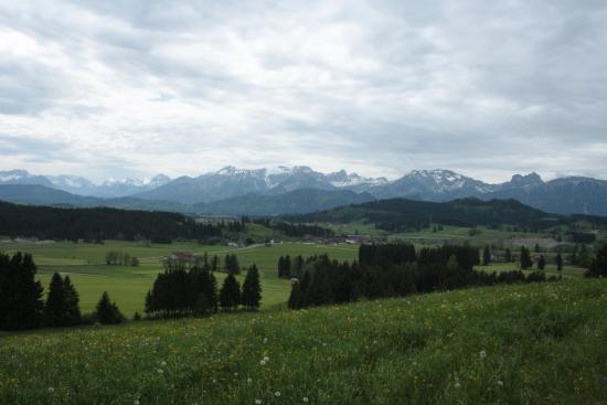 Seeg, Alemania: Ausblick nach Süden von der Ferdinandshöhe
