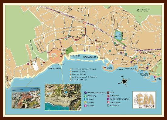 Mapa Map Picture of Centro Comercial El Mirador Costa Adeje