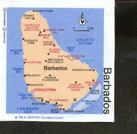 Map of Barbados x Marks Palm Beach condos Picture of Palm Beach