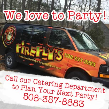 Firefly's BBQ: We cater for parties large or small!