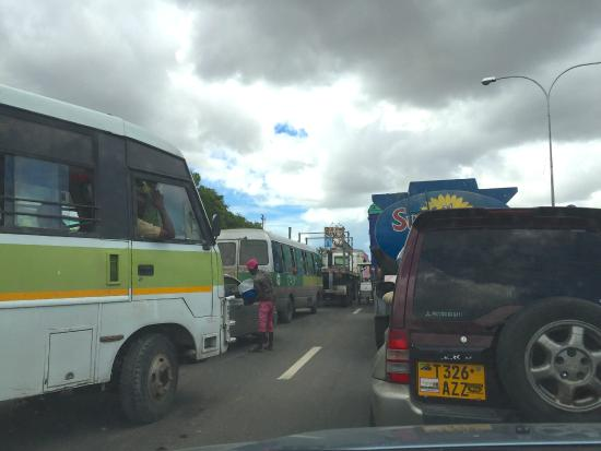 Hotel Sapphire: Dar es Salaam traffic