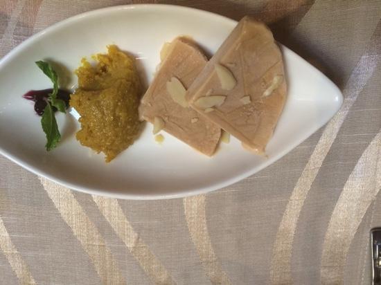 Beyond Indus: Dessert of Kulfi & Halva - simply delicious