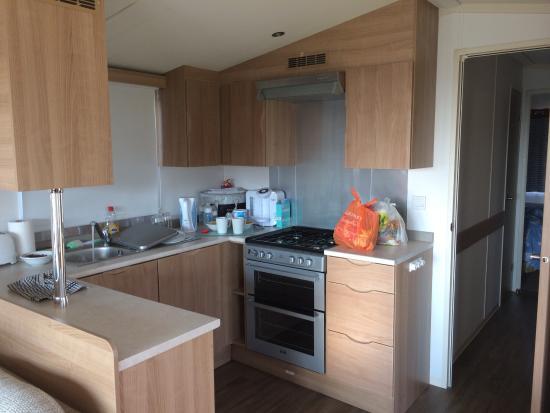 Prestige caravan kitchen - Picture of Devon Cliffs Holiday Park ...