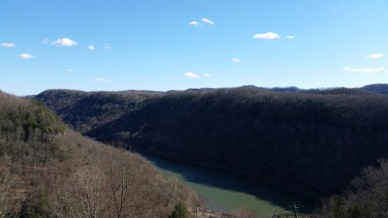 Hawks Nest State Park Lodge: View from the balcony.