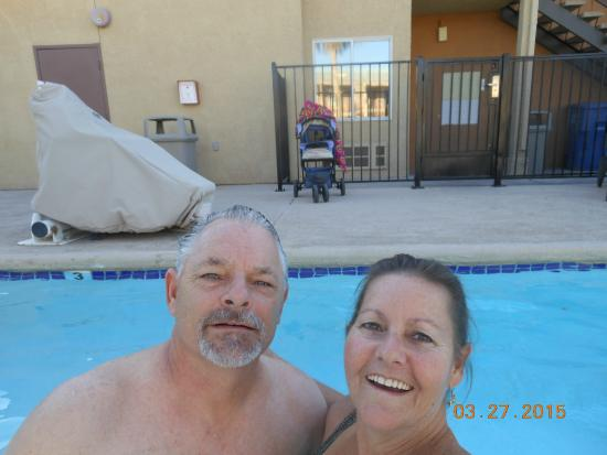 Brawley Inn Hotel & Conference Center: Hubby & I