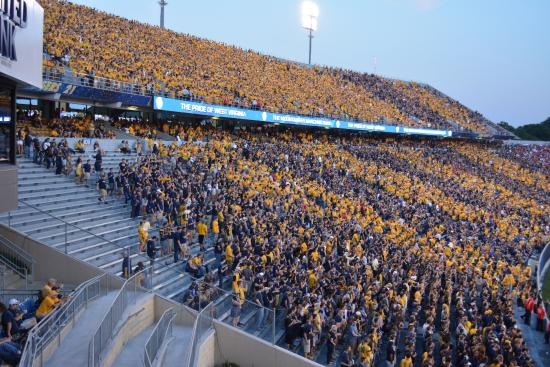 Student Section Picture Of Mountaineer Field Morgantown