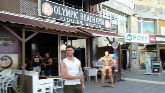 Olympic Beach Gym: after work out :)