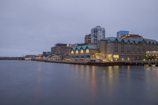 View of Halifax Marriott Harbourfront Hotel from Dartmouth