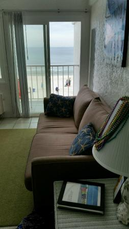 Ambassador -  A Family Resort on the Gulf : view of beach from living room