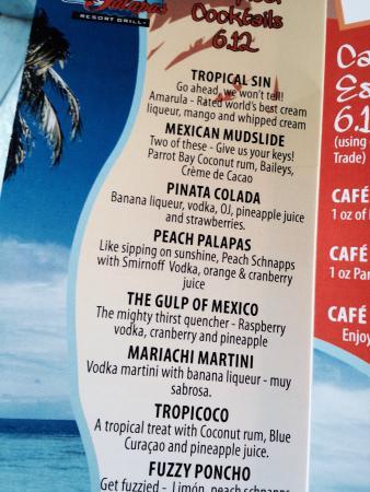 Las Palapas Resort Grill: Yummy drinks!
