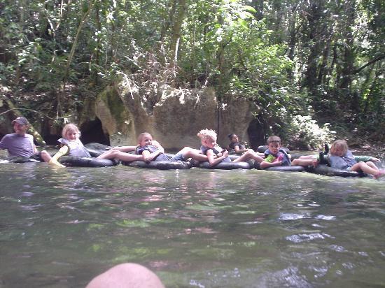 Ian Anderson's Caves Branch Adventure Company: cave tubing train