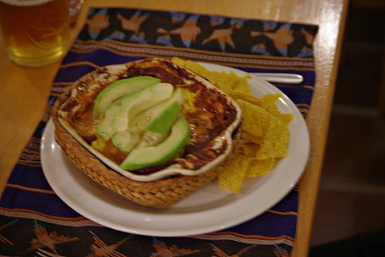 Cafe Pachamama: Vegetarian enchiladas