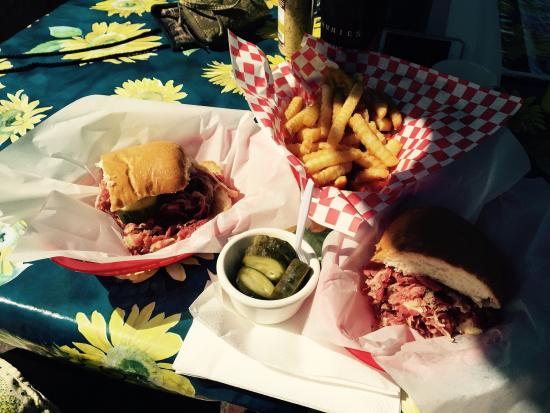 Johnnie's Pastrami : Pastrami and fries (shared for two)