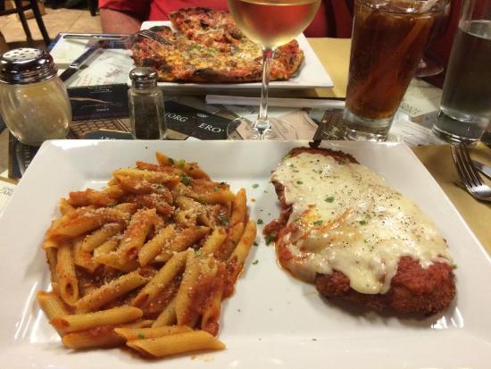 La Forketta Italian Restaurant En Parmesan With Pasta Awesome
