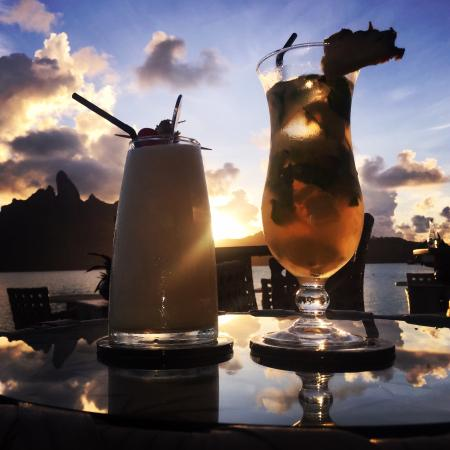 The St. Regis Bora Bora Resort: Dinner and drinks at Jean George's Lagoon
