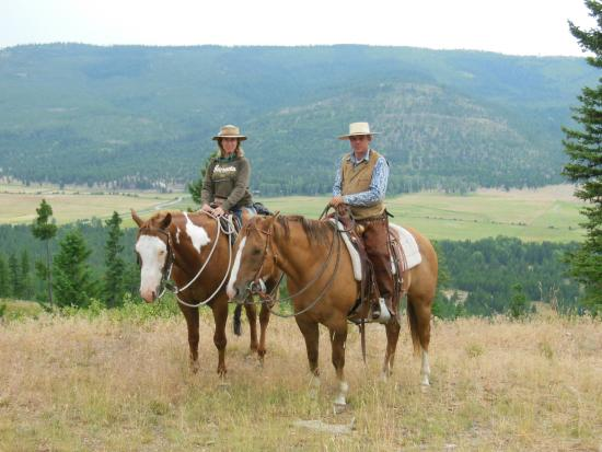 McGinnis Meadows Cattle and Guest Ranch: taking in the scenery