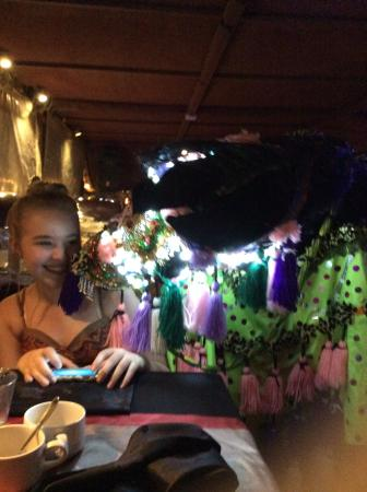 Al Faris Floating Restaurant - Managed by Amazon Tours UAE: Katie meeting the horse