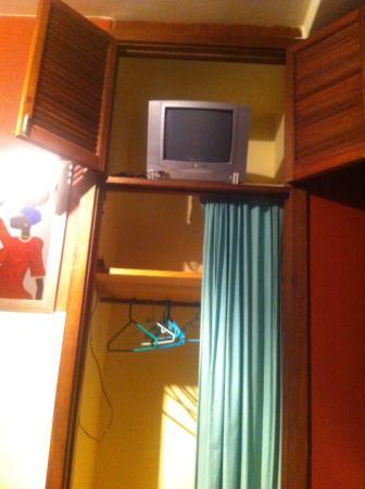 Villa Simona: The so called wardrobe and TV