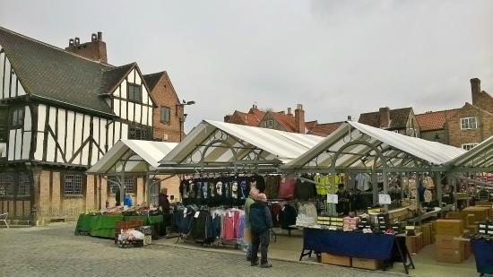 Shambles Market: Market stalls