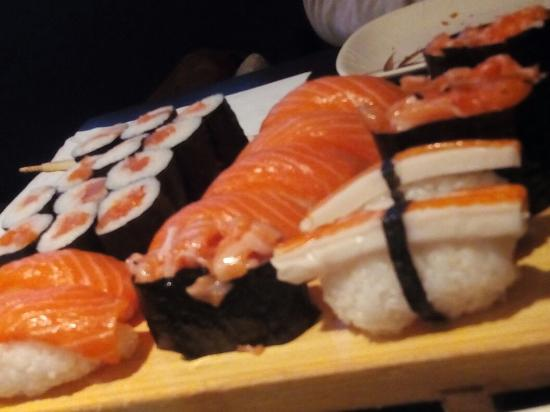 A little of the sushi they serve in the restaurant