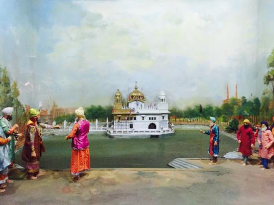 Maharaja Ranjit Singh Statue: The gilding of the Golden Temple.