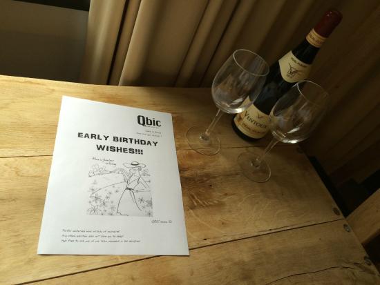 Qbic Hotel London City Free Birthday Gift