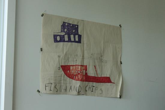 Akaroa Fish and Chips: Art on the wall!