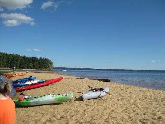 "Songo River: On the ""sandbar"", Sebago Lake side"