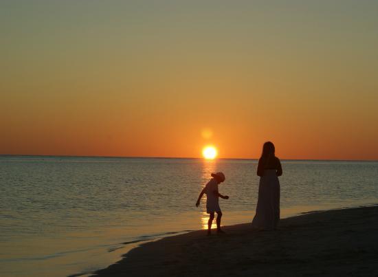 Kuramathi: coucher de soleil