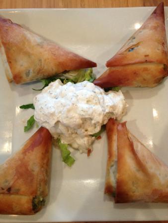 Stella's: Spanakopita with tart tzatziki sauce