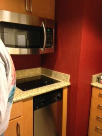 Residence Inn Atlanta Alpharetta/Windward : Full size microwave & stove top
