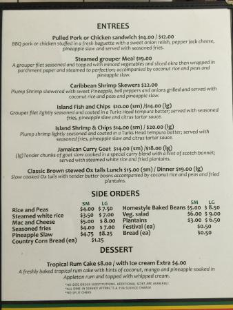 Chinson's Grill Shack : Menu Page 3