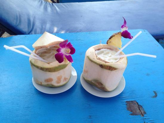 Crystal Restaurant: Coconut cocktails, 1 of your 5 a day!