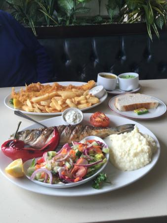 Our main meals photo de fish dish fish and chips for Fish dish menu