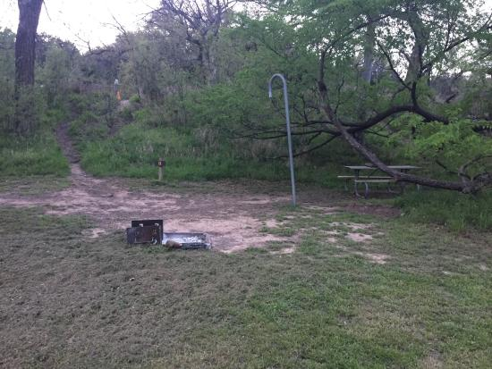 Colorado Bend State Park Site 11 walk in tent site & Site 11 walk in tent site - Picture of Colorado Bend State Park ...