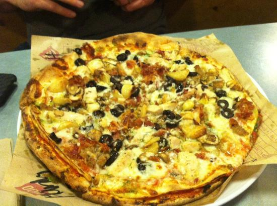 Laguna Hills, Kaliforniya: Mega, double crust pizza. You have to try this!