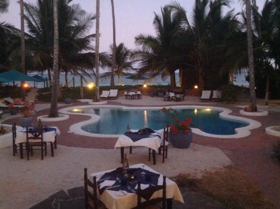 Diani Blue: The evening meal is candle lit