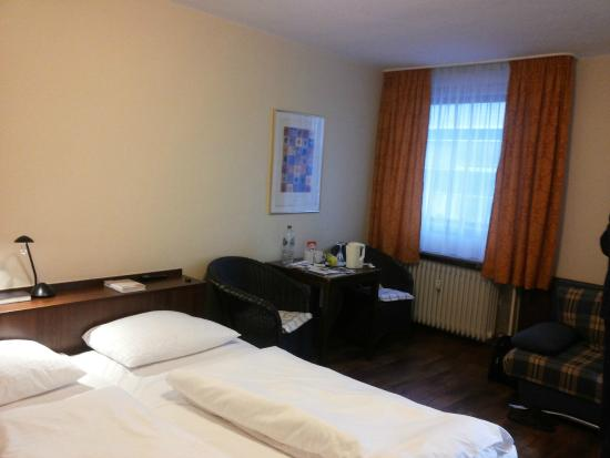 Hotel Euler Haus: Our double room