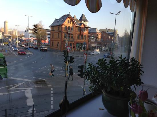 Hotel Euler Haus: View from the breakfast room