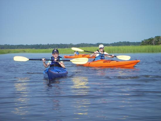 Kayaking at Tybee Island