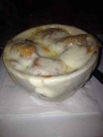 Sunset Grill at Little Harbor: French Onion Soup!