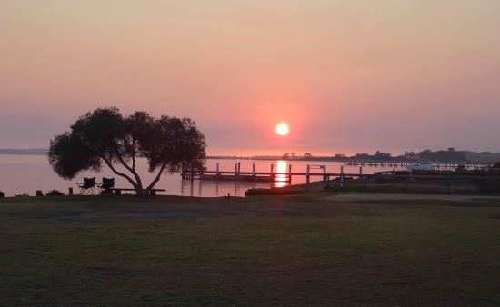 sunrise over Lake King
