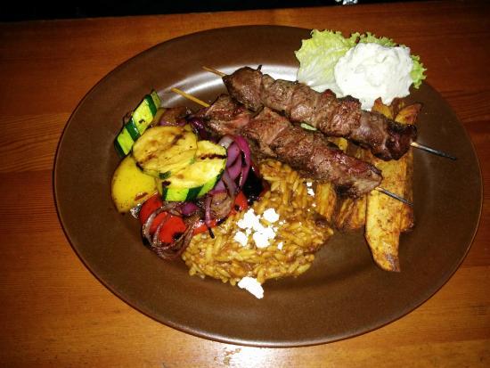 Main Street Diner: Beef Souvlaki Special
