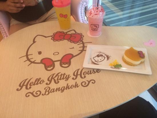 Hello Kitty House: Drinks where so good the cheesecake not so much but it was & lemon tart - Picture of Hello Kitty House Bangkok - TripAdvisor