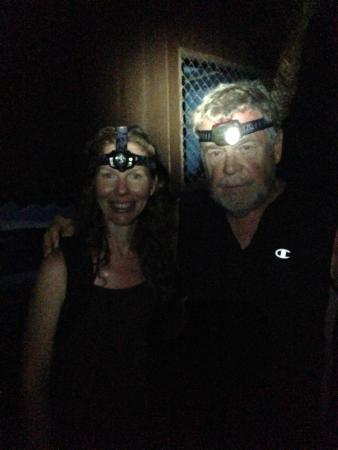 Drake Bay, Costa Rica: Tracie & Cade with their night lights on