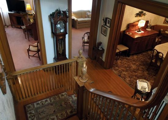 The Lamplighter Bed and Breakfast of Ludington: Oak Stairway