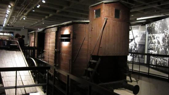 holocaust museum actual rail car picture of united. Black Bedroom Furniture Sets. Home Design Ideas